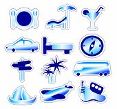 Blue Holiday And Travel Stickers