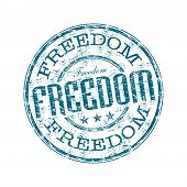 Freedom grunge rubber stamp