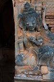 Image Of Guardian In Ancient Burmese Buddhist Pagodas