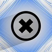 cancel. Flat modern web design on a flat geometric abstract background