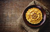 Tartlet With Pumpkin Cream For Halloween For Kids