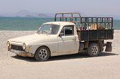 A classic pickup van