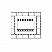 Cinema icon, movie theater logo
