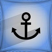 Anchor. Flat modern web design on a flat geometric abstract background