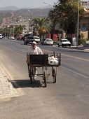 A turkish man with his cart