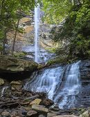 Rainbow Falls in South Carolina surrounded by forest
