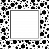 Black And White Polka Dot Background With Frame