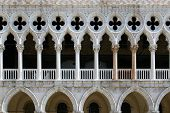 Venetian Gothic Architecture: Fragment Of Venetian Window, Rhythmic Composition
