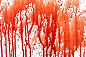 Blood splatters on white