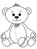 stock photo of tilde  - Toy teddy bear baby smiling - JPG