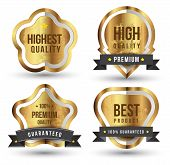 Gold badge set