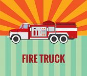 Fire truck - vector drawing.