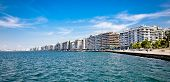 THESSALONIKI, GREECE - OCTOBER 17, 2013: The Nikis Street is famous for luxury hotels, cozy cafes an