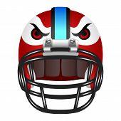 Footbal helmet with eyes
