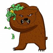 Angry Bear With Money
