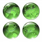 Green Globe Icons