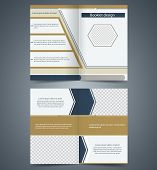 Brown Bifold  Brochure Template Design, Business Leaflet, Booklet
