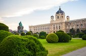 View of famous Naturhistorisches Museum in Vienna