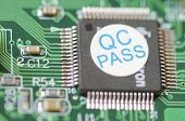 Detalle de un circuito integrado