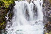 Waterfall on the Paradise River Mt. Rainier National Park Washington