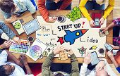 Diverse People Working and Startup Business Concept