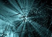 Dark blue explosion background