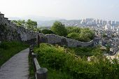 Seoul City Wall In Summer