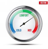 pic of cold-weather  - Indicator meter of comfort between cold and hot - JPG