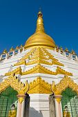 image of tabernacle  - Maharzayde pagoda on blue sky background - JPG