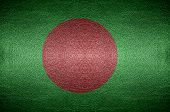 Closeup Screen Bangladesh Flag Concept On Pvc Leather For Background