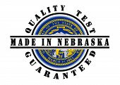 pic of nebraska  - Quality test guaranteed stamp with a state flag inside Nebraska - JPG