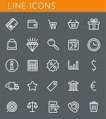 Line Icons Set. Shopping And Sale Objects. Vector Web Design Elements