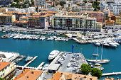 Port Lympia In Nice In France, Aerial View