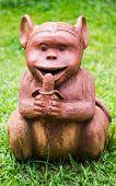 Thai Sculpture Of Monkey