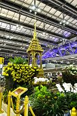 Bangkok- August 15 : Small Thai Golden Throne At Suvanaphumi Airport, Bangkok On August 15, 2014.