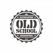 old school label sticker
