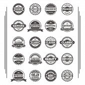 product quality label sticker set