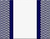 image of chevron  - Navy Blue and White Chevron Zigzag Frame with Ribbon Background with center for copy - JPG