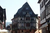 MILTENBERG, GERMANY - 20 JULY: Half-timbered old house in Miltenberg, Lower Franconia, Bavaria, Germ