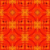 Nicel Seamless Orange Background Patterned By Orange Albatross Butterfly's Wing Skin