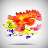 Watercolor vector background. Hand drawing.