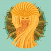 stock photo of carnival rio  - vector Illustration of leo zodiac sign - JPG