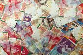 picture of shekel  - Various Israeli shekel notes background image including 200 - JPG