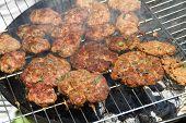 turkish kofte on the grill