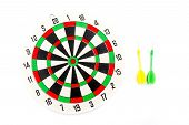 2 Dart Green And Yellow Color And 1 Target