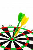 2 Dart Green And Yellow Color Right On Target