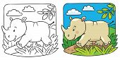 Little rhino coloring book
