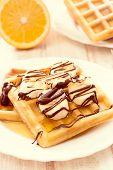 Belgium Waffels And Banana