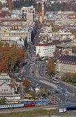 ZAGREB, CROATIA - NOVEMBER 07: Aerial view of Zagreb, the capital of Croatia on November 07, 2007 Za