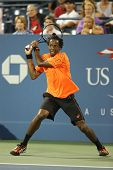 Professional tennis player Gael Monfils during second round match at US Open 2013